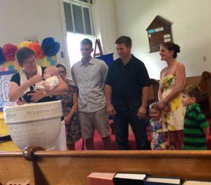Baptism Performed by Pastor Betsey Polglase July 2018
