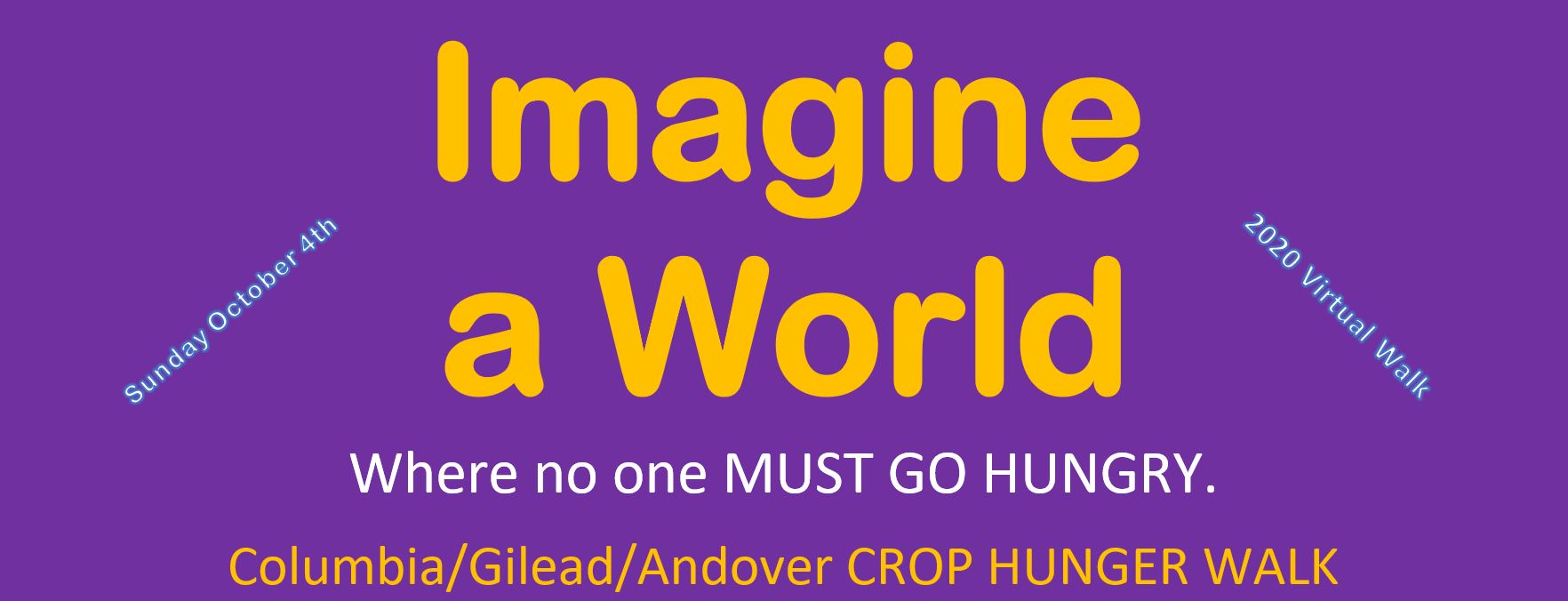 The Walk is virtual, but the need could not be more real! CROP Hunger Walks are happening in a new way! To keep everyone safe and healthy, Walks are going virtual – either walking alone, with immediate family or in small groups walking a safe distance apart.